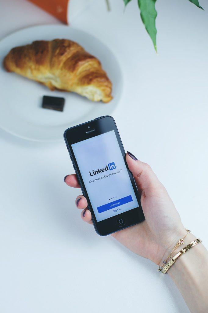 Linkedin sur mobile